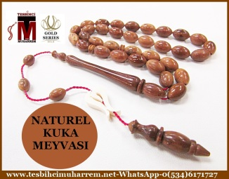 NATUREL KUKA MEYVASI TESBİH 7x11 mm WHO WHO (TM3783)