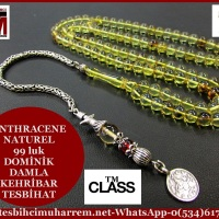 DOMİNİK DAMLA KEHRİBAR TESBİH 5,5x5,5 mm NATUREL 99 luk ANTHRACENE (TM4487)