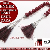 ZAZA TESBİH 14x14,5 mm ESKİ USUL SENCER REİS (TM4893)