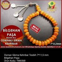 Osmanlı Sıkma Kehribar Tesbih