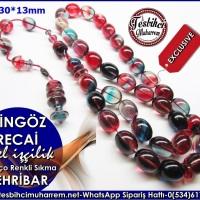 Özel İşçilik Şişman Beyzi Kesim Renkli Palyaço Sıkma Kehribar Tesbih Cingöz Recai Ürün Kodu: TM7990