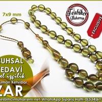 Özel İşçilik Eski Alman Zeytinyağı Yeşili Zar Kehribar Tesbih Ruhsal Tedavi Ürün Kodu: TM8069