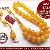 Teker Model Eski Osmanlı Sıkma Kehribar Tesbih İsmail Baba Ürün Kodu: TM8290